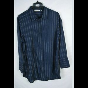 Soft Surroundings Womens  Navy Pinstripes Size PL